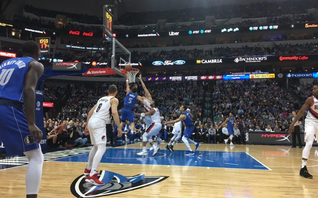 Image of Mavericks player on the court